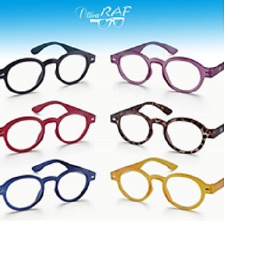 Occhiali Lettura Montana Reading Glasses Rotondi Colorati Stile Vintage Retro