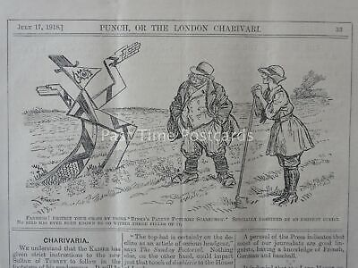 WW1 1918 July 17th BINKS'S FUTURIST SCARECROW BY MODERN ART CUBIST Punch Cartoon