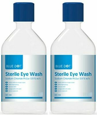 500ml Sterile Saline Emergency Eye / Wound Wash - Long Expiry Dates