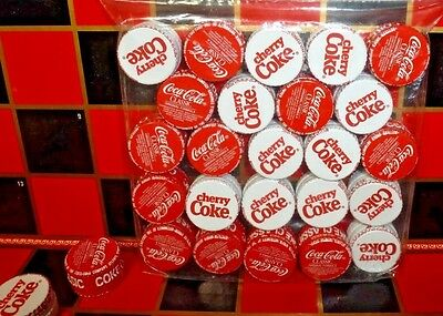 COCA-COLA CHECKERS SET ~ Coca-Cola Classic & Cherry Coke Pieces ~ Plus Vtg. Game