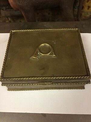 #801 19 C Bronze Brass Gold Jewelry Box Antique Collectible