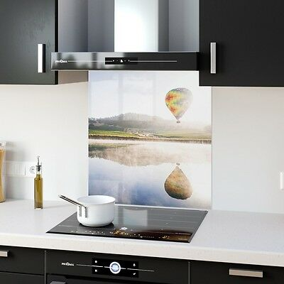 Kitchen Splashback Toughened Glass Heat Resistant  Air Baloon p147540 60x65cm