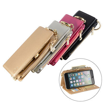 Leather Wallet Magnetic Flip Phone Case Cover Handbag for iPhone 6 6S 7 Plus