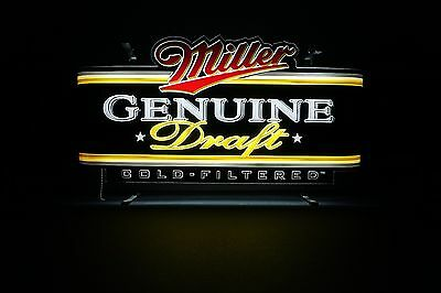 Art Deco Design Miller Genuine Draft Edge Lit Plastic form