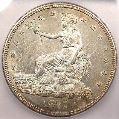 1877-S Trade Silver Dollar T$1 - ICG MS60 Details - Rare Certified UNC BU Coin