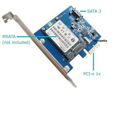 mSATA 3 III SSD & SATA 3 III to PCI-E PC Expansion Card Converter Adapter Board