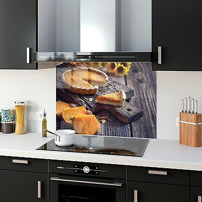 Kitchen Splashback Tempered Heat Resistant Glass Pumpkin Pie 63838766 90x65cm