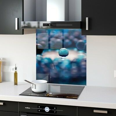 Kitchen Splashback Toughened Glass Heat Resistant Marble Ball p1341 60x65cm