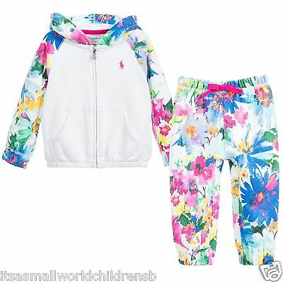 RALPH LAUREN Baby Girls 2 pc hooded floral TRACK SUIT 3M (60cm) BNWT