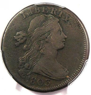 1803 Draped Bust Large Cent 1C - PCGS VF Details - Rare Early Date Penny