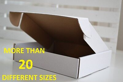 Multilisting, Pack Of 10 Small Strong White Postal Cardboard Mailing Boxes Boxes
