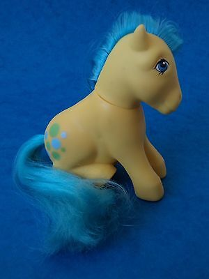 Vintage MLP - MY LITTLE PONY - BUBBLES - G1 Earth Pony - Tail Plug Loose