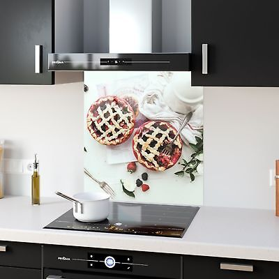 Kitchen Splashback Toughened Glass Heat Resistant Fruit Pie p104987 60x65cm