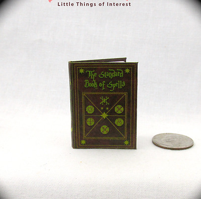 THE STANDARD BOOK OF SPELLS Miniature Book Dollhouse 1:6 Scale Harry Potter Book