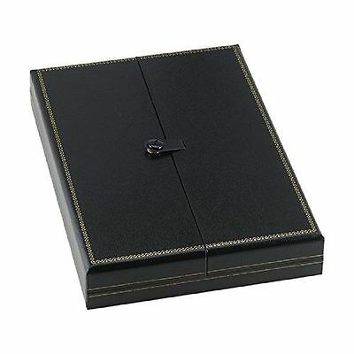 3 Large Black Necklace Snap Lid Gift Boxes Display Box, New
