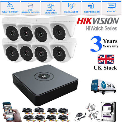 4CH 1080P 2.4MP HD DVR Outdoor Night Vision CCTV Security Cameras System Kit