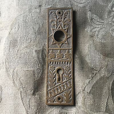 Antique Russell & Erwin Victorian Cast Bronze  Doorknob Backplate