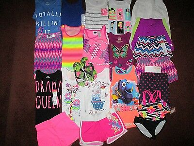 Girls Size 6 Summer Lot Clothes & Outfits Old Navy TCP Okie Dokie Disney NWT'S