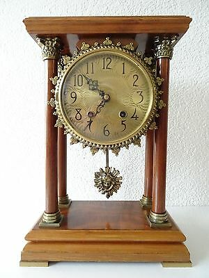 Warmink PILLAR Dutch Vintage Mantle Shelf Bracket Clock (Junghans Hermle era)