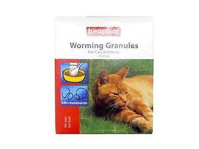Beaphar Cat Kitten WORMING GRANULES Powder Wormer Roundworm Treatment 4 Sachets