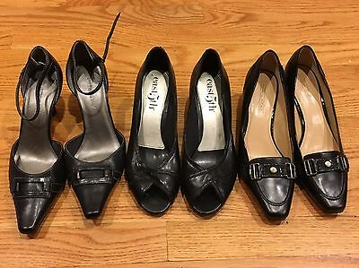 Lot Of 3 Pairs Shoes Woman Size 6.5