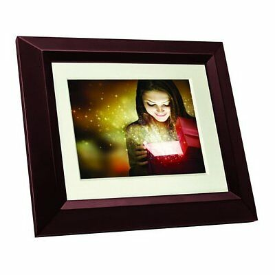 """Philips SPF3482 Home Essentials Digital Photoframe 8"""" LCD Panel Brown Wood"""