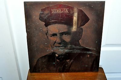 Vintage Atlantic Gas Man Advertising Printing Plate