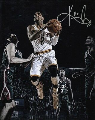 KYRIE IRVING BASKETBALL CLEVELAND CAVALIERS SIGNED 10x8 INCH LAB PRINTED PHOTO