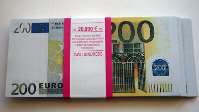 200 Euro 80pcs Paper Money FOR GAME