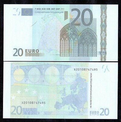 20 Euro 80pcs Paper Money FOR GAME