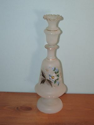 Hand Painted Glass Decanter Bottle With Glass Topper (J)