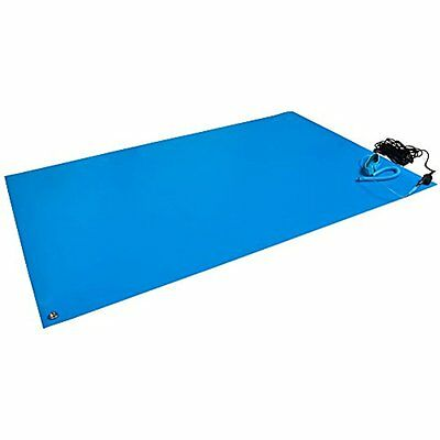 "Bertech ESD Mat Kit with a Wrist Strap and a Grounding Cord, 18"" Wide x 24"" Long"