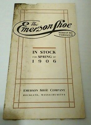 Vintage Emerson Shoe Co Catalog Rockland Mass Spring 1906 Boot Footwear Rare