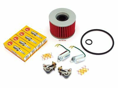 Tune Up Kit - Oil Filter Plugs & Points - Honda CB500K CB500 CB550 CB550F