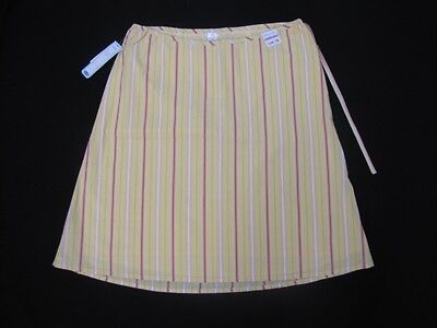 Nwt Adorable Old Navy Multi Pastel Stripe A Line Maternity Skirt Size 10