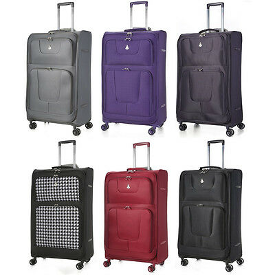 CLEARANCE Aerolite Lightweight 8 Wheel Suitcase Hand Cabin Extra Large Luggage