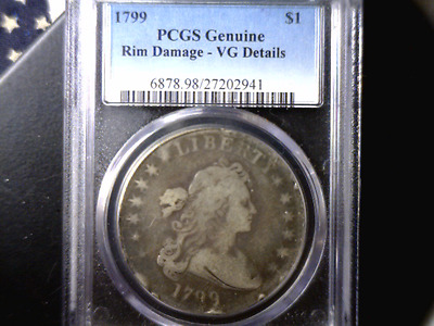 1799 PCGS VG - Draped Bust Silver Dollar - Nice Looking Coin