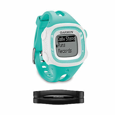Garmin Forerunner 15 Teal/White Running Watch w/HRM | 010-01241-21 | BRAND NEW!
