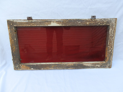 Scarce Antique Early Victorian Ruby Glass Transom Window