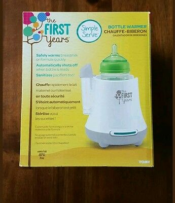 The First Years Simple Serve Bottle Baby Food Warmer & Pacifier Sanitizer