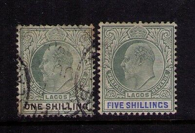LAGOS STAMPS SC# 56;58 USED & MH Cat.$46