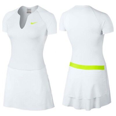 Stylish NIKE Golf Dress with Detached Shorts White Volt Size XL approx UK 14-16