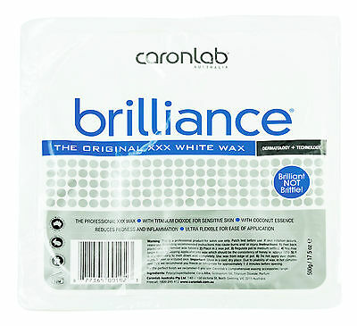Caron Caronlab Brilliance XXX Depilatory Hard HOT WAX - 500g TRAY PALLET