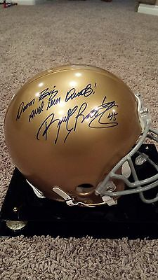 Rudy Ruettiger Signed Authentic Notre Dame Helmet Authentic  (Steiner Sports)