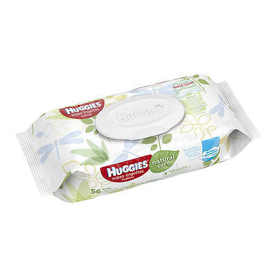 Huggies Natural Care Unscented Baby Wipes Soft Pack - 56 Count