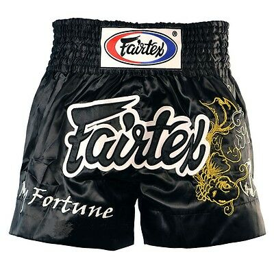 "Fairtex "" My Fortune""  Muay Thai Shorts - BS0639 - Black & White"