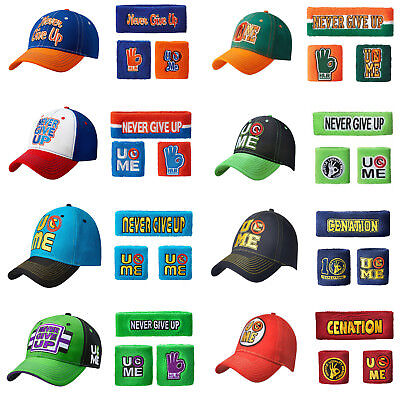 Wrestling John Cena AJ Mens Youth Boy Kid Cap Hat Popular Sweatbands Wristbands