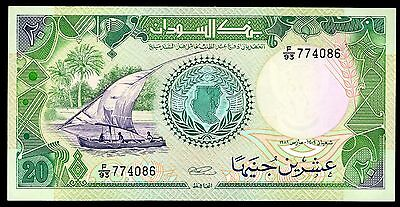 Sudan, 20 Pounds, F/93 774086, (1989). Almost Uncirculated.
