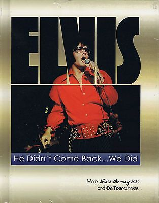 Elvis Presley - HE DIDN'T COME BACK...WE DID Book w/DVD - New & Sealed