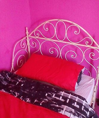 shabby chic antique cast iron day bed